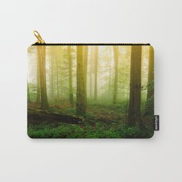 Misty Green Forest Photography Carry-All Pouch