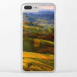 Tuscany, italian wineyards Clear iPhone Case