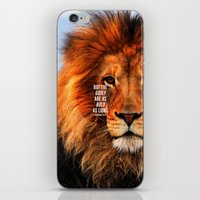 narnia iPhone & iPod Skins featuring BOLD AS LIONS by Pocket Fuel