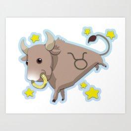 Taurus Zodiac Sign Art Print