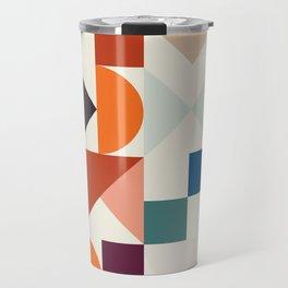 mid century retro shapes geometric Travel Mug