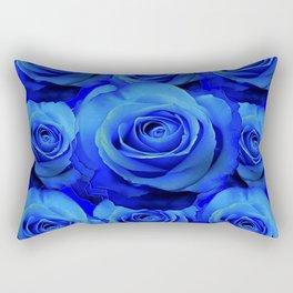AWESOME BLUE ROSE GARDEN  PATTERN ART DESIGN Rectangular Pillow