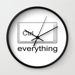 Control Ctrl everything Wall Clock