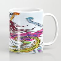 siren Mugs featuring Siren by Labartwurx