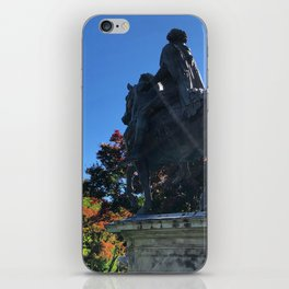 Statue Amongst the Changing Colors iPhone Skin