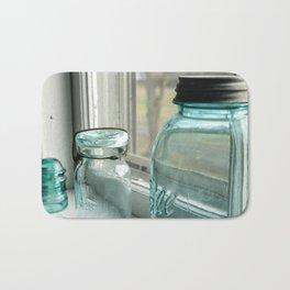 Blue Masons In The Window Bath Mat