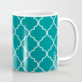 Quatrefoil - Teal Coffee Mug