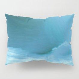 Minimalist Blue Alaskan Sea Waves Abstract Pillow Sham