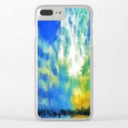 feathered horizon Clear iPhone Case
