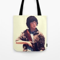 carl sagan Tote Bags featuring Carl  by ConnorEden