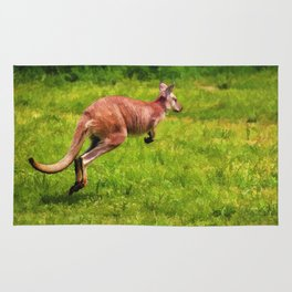 Wild Wallaby - Australian Animal Rug