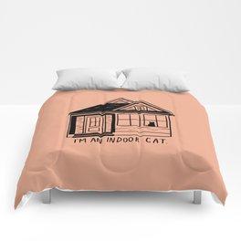 Indoor Cat (house) Comforters