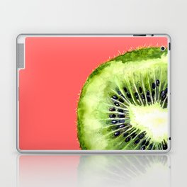 Kiwi on Coral Laptop & iPad Skin