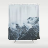new zealand Shower Curtains featuring Stormy New Zealand by Luke Gram