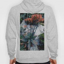 Succulent Garden Coral Orange and Green Hoody