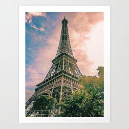 Eiffel Tower II / Paris, France Art Print