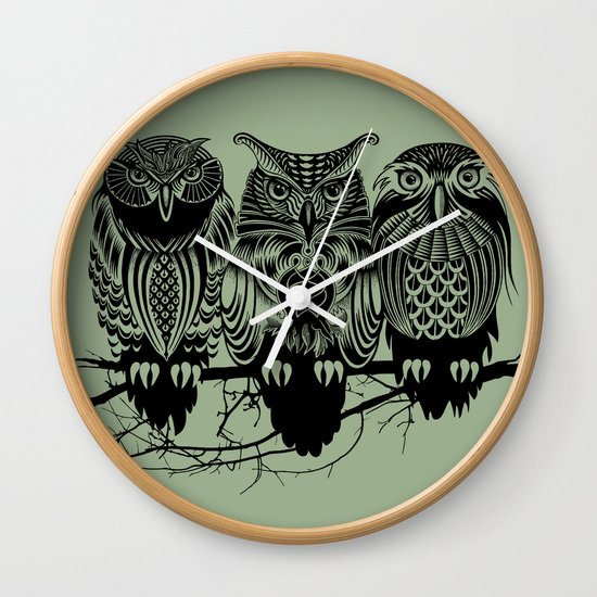 Owls of the Nile Wall Clock