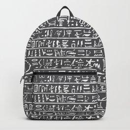 Egyptian Hieroglyphics // Charcoal Backpack
