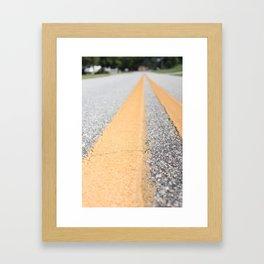 Take the Road Framed Art Print