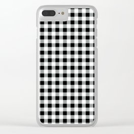 Modern black white picnic 80s print pattern Clear iPhone Case