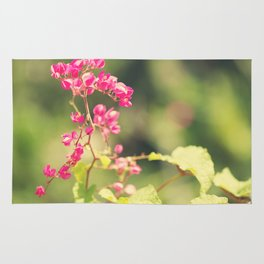 Flowered Rhapsody in Pink Rug