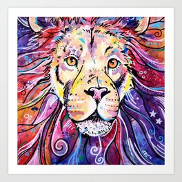 The Chief - Lion painting Art Print