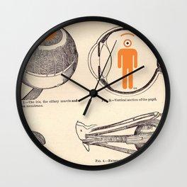 eye's anatomy Wall Clock