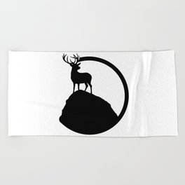 deer pose Beach Towel