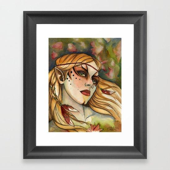 Flower Fairy Framed Art Print