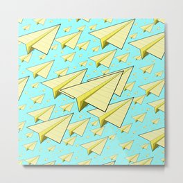 Paper Airplane 10 Metal Print