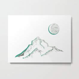 Marble Mountain and Moon Metal Print