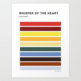 The colors of - Whisper of the heart Art Print