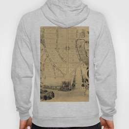 Map of Chevy Chase 1890 Hoody