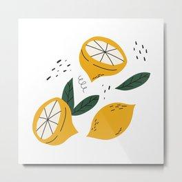 Juicy Lemons Metal Print