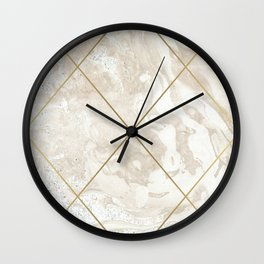 Gold & Marble 01 Wall Clock