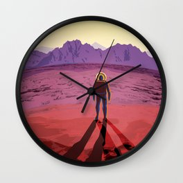 Relax on KEPLER-16b The Land of Two Suns, Where Your Shadows Always Have Company Space Travel Poster Wall Clock