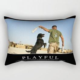 Playful: Inspirational Quote and Motivational Poster Rectangular Pillow