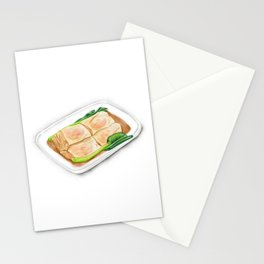 Watercolor Illustration of Chinese Cuisine - Vermicelli Roll with Shrimp | 鲜虾肠粉 Stationery Cards