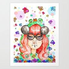 Miss Frog Art Print