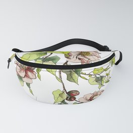 Camellia Inspired Flower Branch Fanny Pack