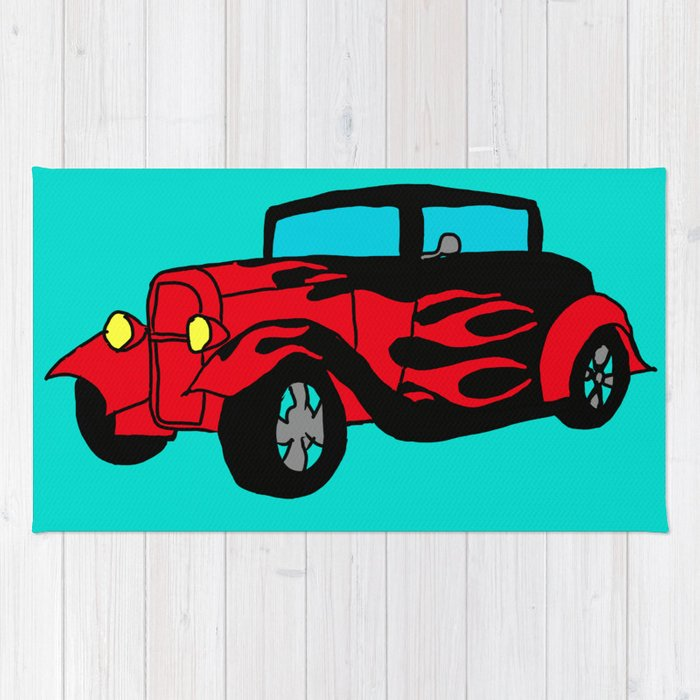 Hot Wheels Rug By Artdevil01 Society6