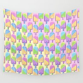 Ice Lollipops Popsicles Summer Punchy Pastels Colors Pattern Wall Tapestry