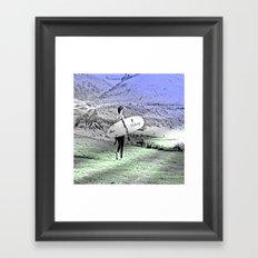 Going Surfing Framed Art Print