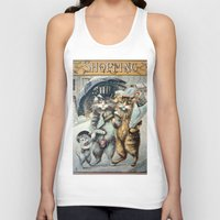shopping Tank Tops featuring Shopping by Frankie Cat