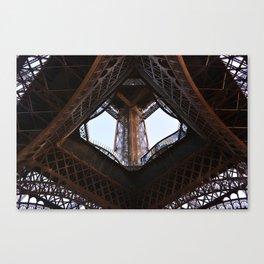 Eiffel Tower (below, looking up) Canvas Print