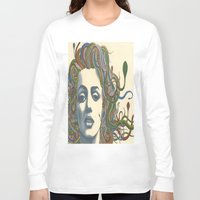 marylin monroe Long Sleeve T-shirts featuring Medusa Monroe  by Ty McKie Creations