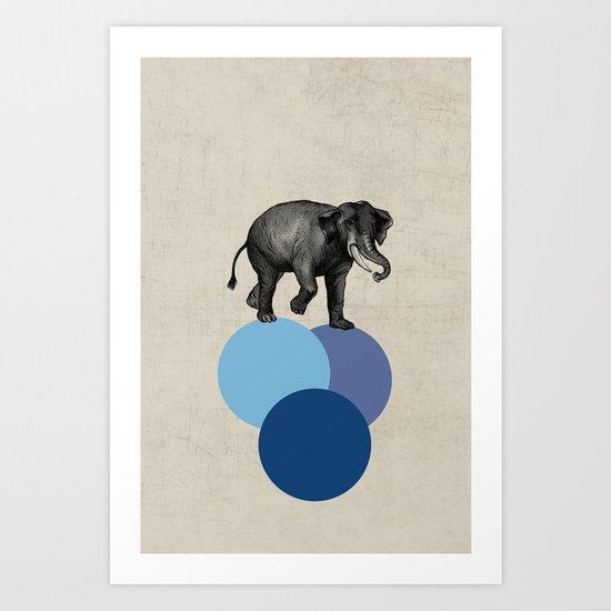 elephant balance Art Print