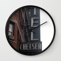 chelsea Wall Clocks featuring Chelsea by Leah Moloney Photo