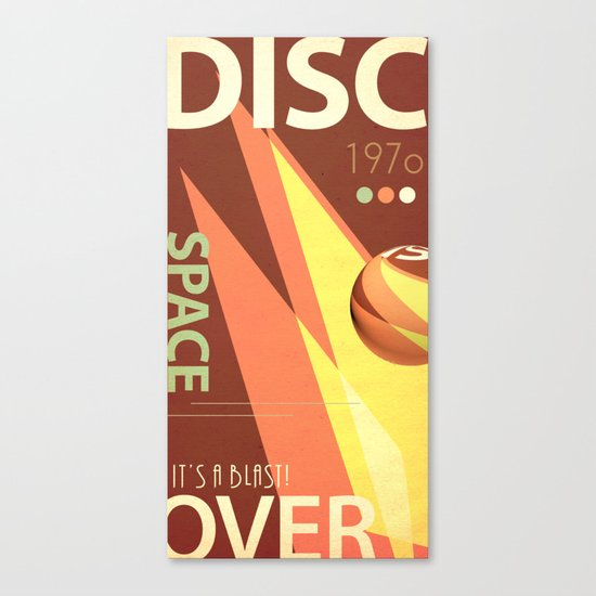 Vintage Space Poster Series II - Discover Space - It's a Blast! Canvas Print