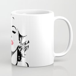 Marilyn Red Lips Pop Art Coffee Mug